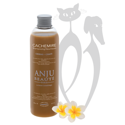 Anju Beaute Shampoo Cachemire, 250 ml - Conditions, smooths, adds shine and beauty. Restores damaged coats