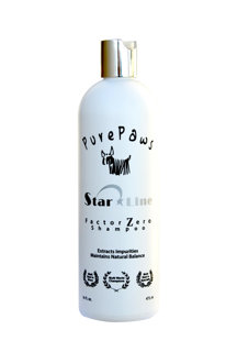 Pure Paws Factor Zero Shampoo, 473 ml - deep cleaning, removes all products and adjusts the coat back to its neutral state