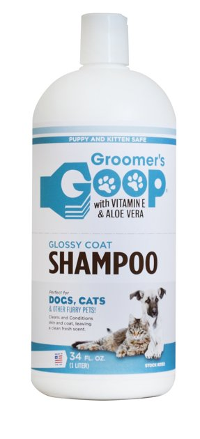Groomer`s Goop Glossy Coat Pet Shampoo, 1000 ml - shampoo for all coat types