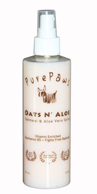 Pure Paws Oats `N Aloe Spray, 237 ml - adds moisture to the coat and soothes the skin