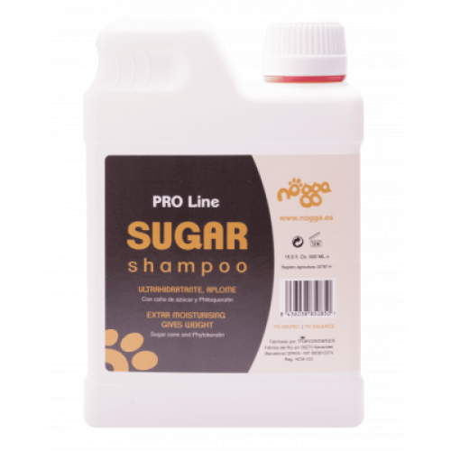 Nogga PRO Line Sugar Shampoo, 500 ml - Extremely moisturizing shampoo for long coats