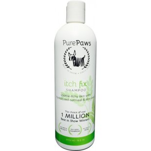 Pure Paws SLS Free Line Itch Fix Shampoo, 473 ml - sulfate free shampoo that eliminates skin itching, dryness, irritation, redness