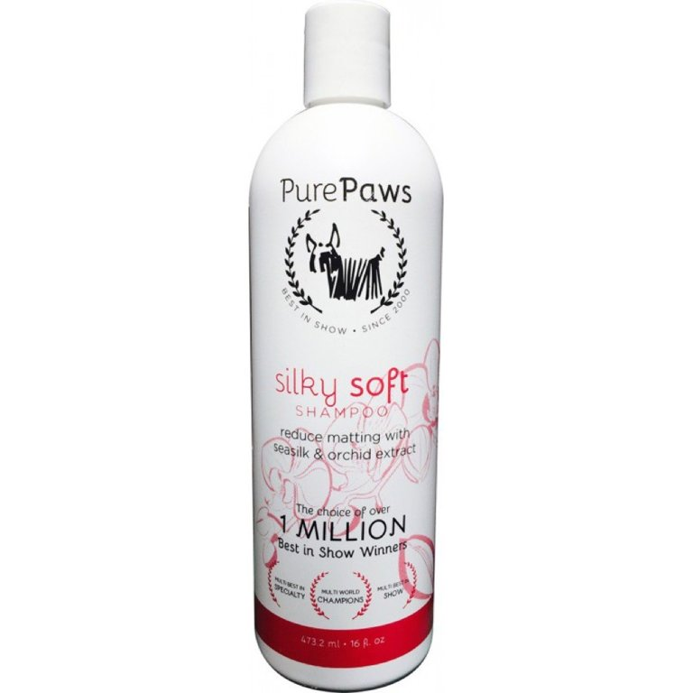 Pure Paws SLS Free Line Silky Soft Shampoo, 473ml - sulfate free shampoo with silk proteins for long coats