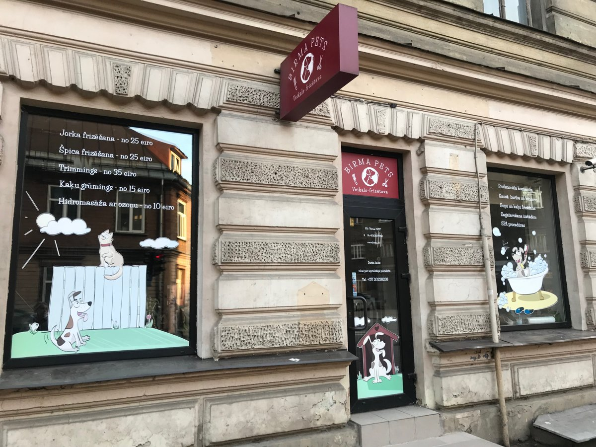 BIRMA PETS Shop and Grooming salon for dogs and cats in Riga