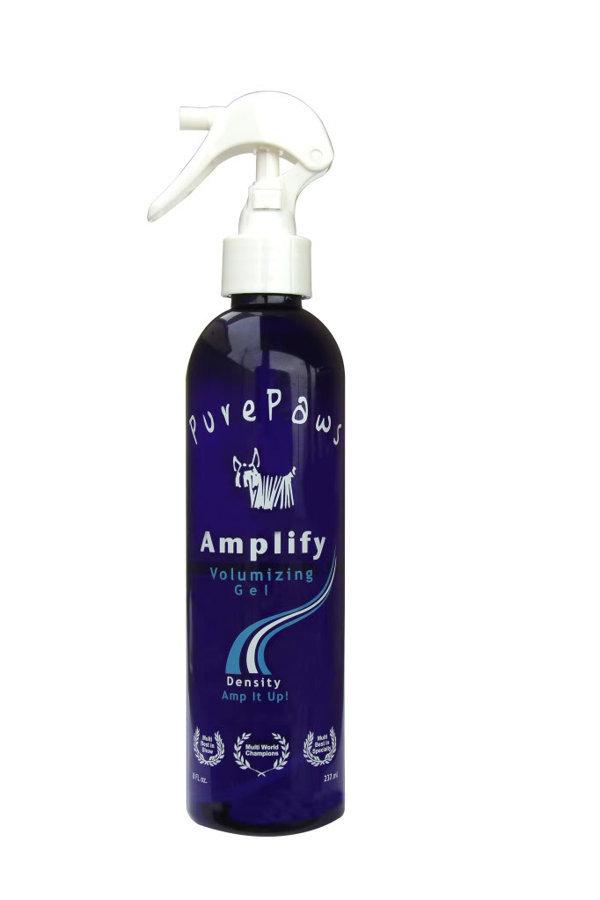 Pure Paws Amplify Spray Gel, 237 ml - Sprejs spalvas teksturēšanai un apjoma veidošanai suņiem ar pavilnu, cietai spalvai, jaukta tipa spalvai