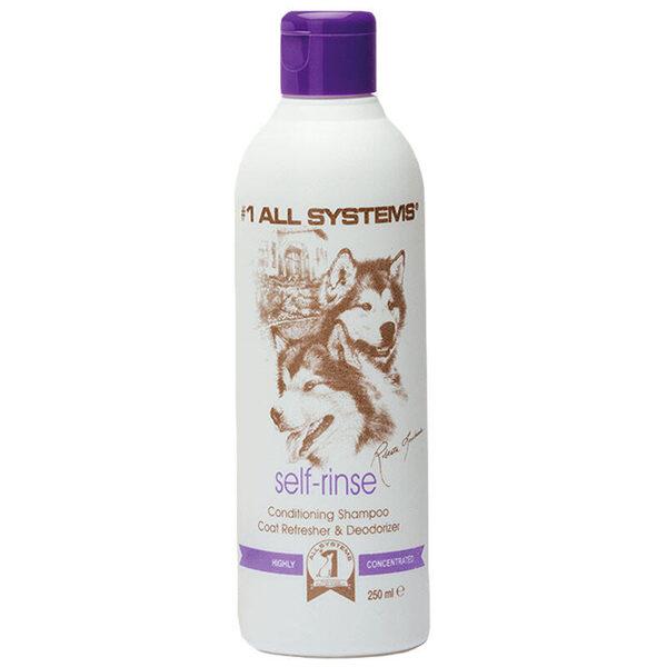 #1 All Systems Self-Rinse Conditioning Shampoo & Coat Refresher, 250 ml - šampūns, bagātināts ar kondicionieri, rūpīgi attīra, mitrina