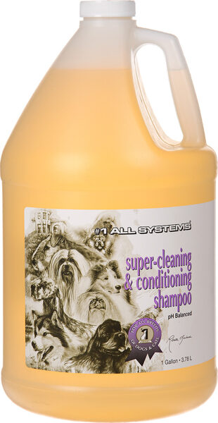 #1 All Systems Super Cleaning and Conditioning Shampoo Gallon, 3,78 L - maigi attīrošs šampūns