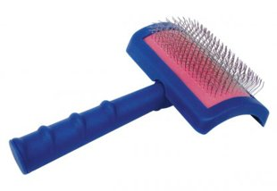 Show Tech Tuffer Than Tangles Regular Medium Slicker Brush - gari stingri sari