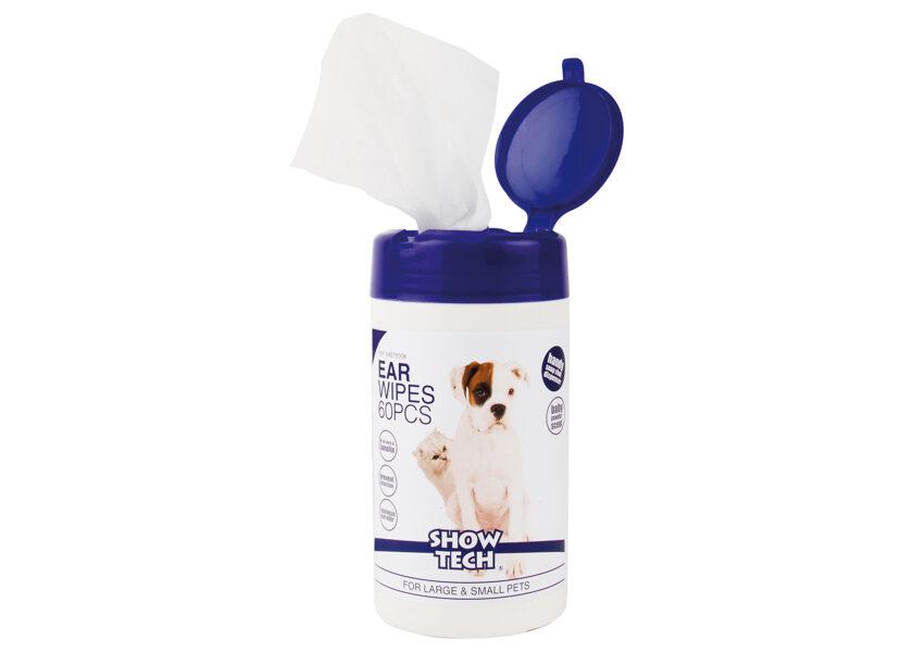 Show Tech Ear Wipes Ear Cleaner  - salvetes ausu kopšanai, 60 gb