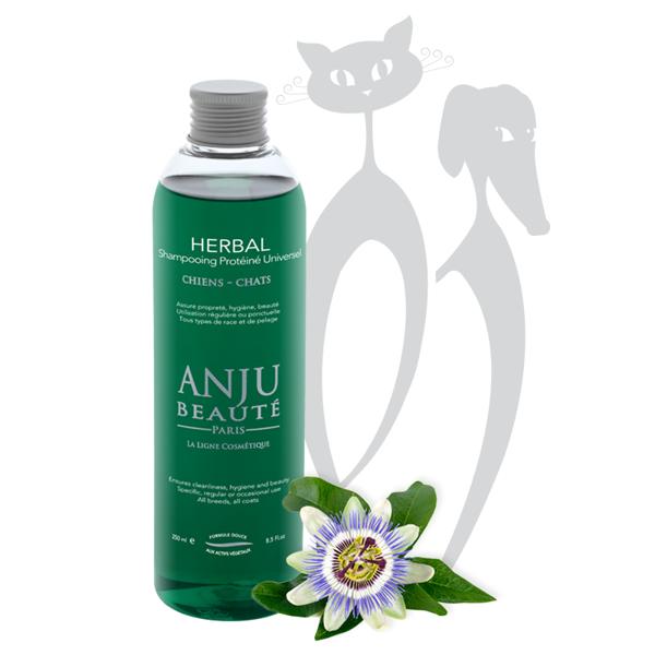Anju Beaute Shampoo Herbal, 1000 ml - для всех типов шерсти, для частого применения