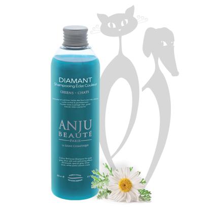 Anju Beaute Shampoo Diamant, 250 ml - усиливает оттенок и интенсивность светлых, полубелых, голубых, серебряных и сиреневых окрасов
