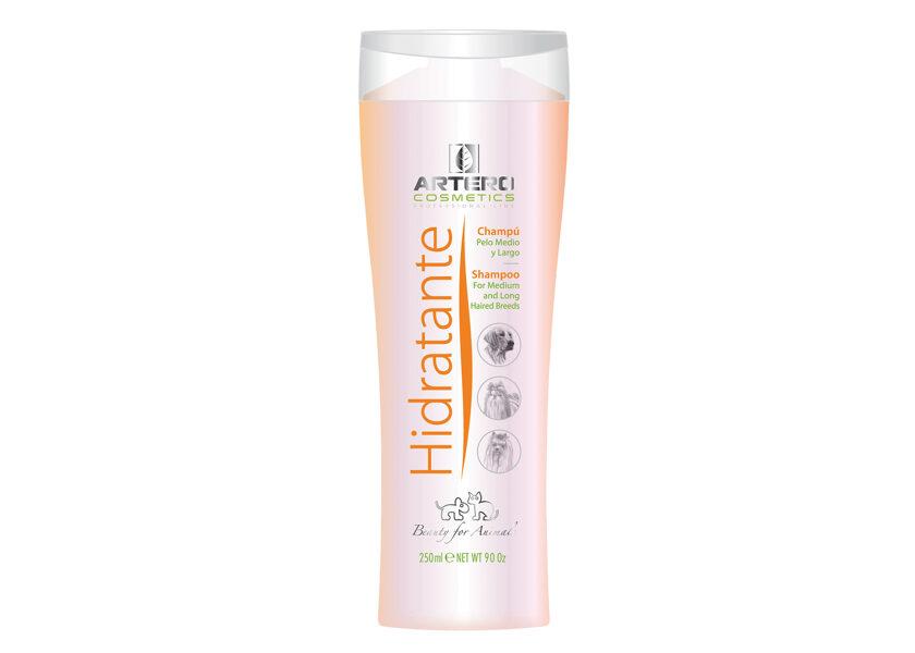 Artero Hidratante Shampoo, 250 ml - garspalvainām šķirnēm vai sausiem un bojātiem mēteļiem
