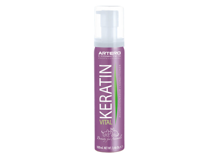 Artero Keratin Vital Conditioner, 100 ml - atjauno dabisko matu maigumu un spīdumu