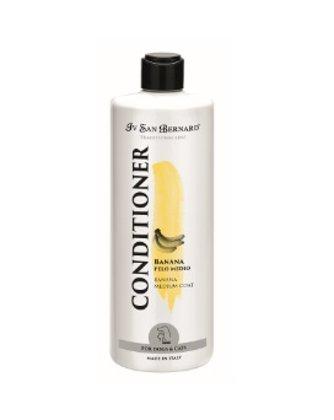 Iv San Bernard Banana Conditioner, 1L - for medium haired pets, gives the hair elasticity, making it shiny