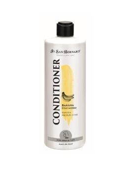 Iv San Bernard Banana Conditioner, 500 ml - for medium haired pets, gives the hair elasticity, making it shiny