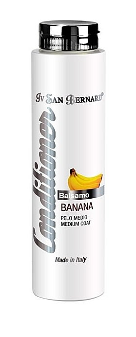 Iv San Bernard Banana Conditioner Plus, 300 ml - sulfate free conditioner that gives softness and shine to medium-haired coats