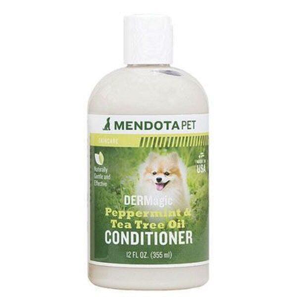 DERMagic Peppermint & Tea Tree Oil Conditioner, 355 ml - mīksts kažoks bez savēlumiem, aizsargā no mikrobiem