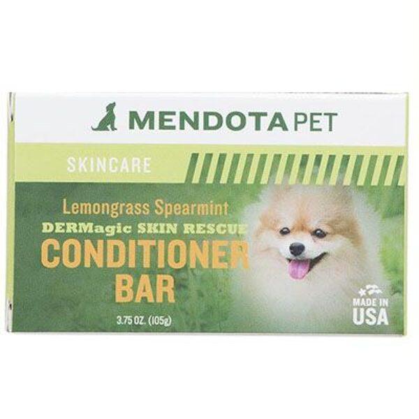 DERMagic Skin Rescue Conditioner Bar - Lemongrass, 105 g - mīksts un zīdains kažoks, novērš sausuma un niezes izraisītas ādas problēmas