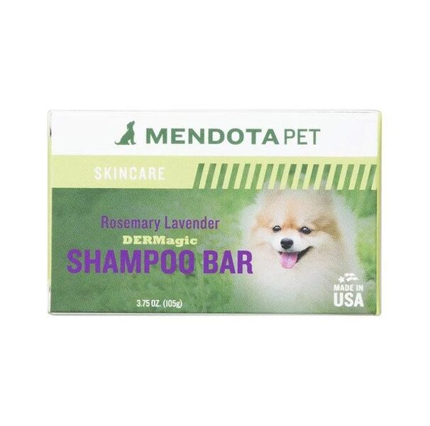 DERMagic Organic Shampoo Bar - Rosemary Lavender, 105 g - nomierinoša iedarbība