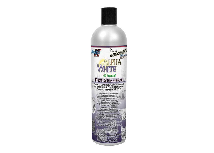Double K Alpha White Shampoo,  473 ml - dziļa tīrīšanas, kondicionēšanas, balināšanas, traipu noņemšanas šampūns