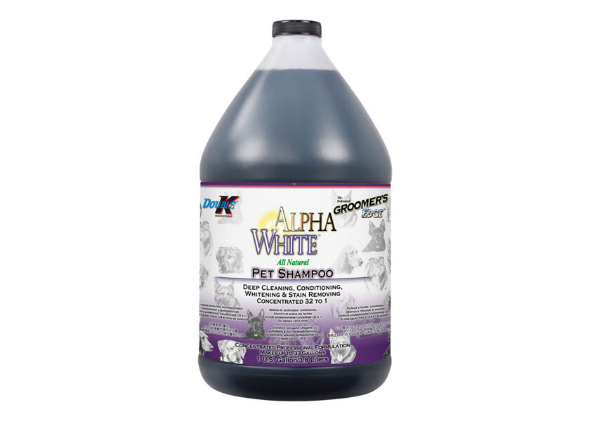 Double K Alpha White Shampoo, 3,8 L - dziļa tīrīšanas, kondicionēšanas, balināšanas, traipu noņemšanas šampūns