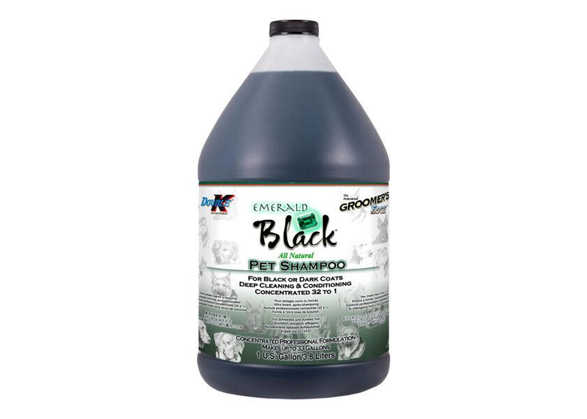 Double K Emerald Black Shampoo, 3,8 L - dziļi attīrošs un krāsu uzlabojošs šampūns melniem un tumšiem mēteļiem