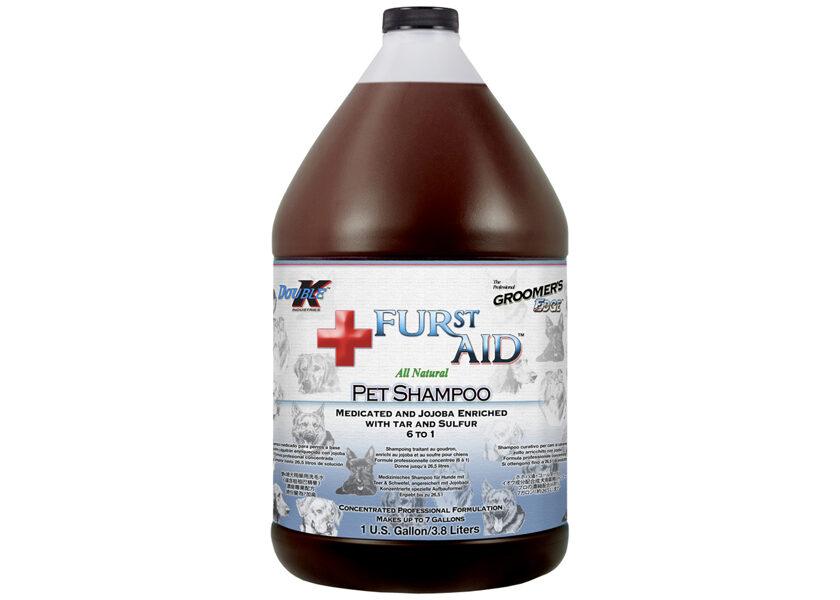 Double K Furst Aid Shampoo, 3,8 L - nomierina un dziedē kairinātu ādu