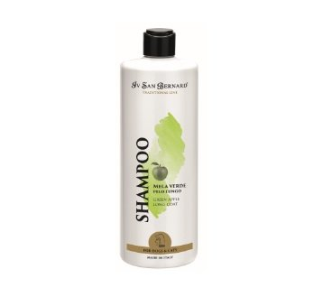 Iv San Bernard Green Apple Shampoo, 500 ml - moisturizes and rejuvenates the coat, giving shine and softness, for long-haired pets