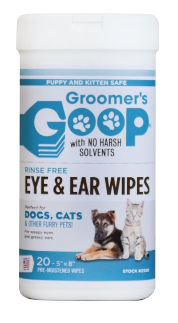 Groomer`s Goop Eye & Ear Wipes, 20gb - salvetes ausīm un acīm