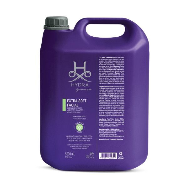 Hydra Groomers Extra Soft Facial and Full Body Hypo Shampoo Gallon, 5000 ml - PROFESIONĀĻIEM, hipoalerģisks maigs šampūns