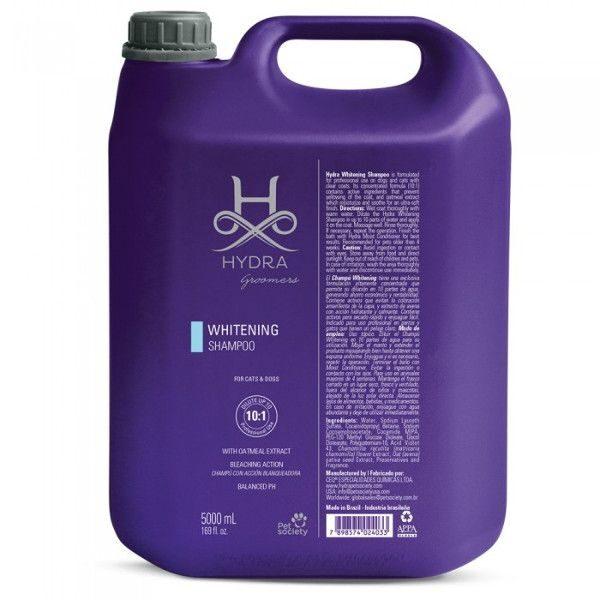 Hydra Groomers Whitening Shampoo Gallon, 5000 ml - PROFESIONĀĻIEM, balinošais šampūns suņiem un kaķiem ar gaišu mēteli