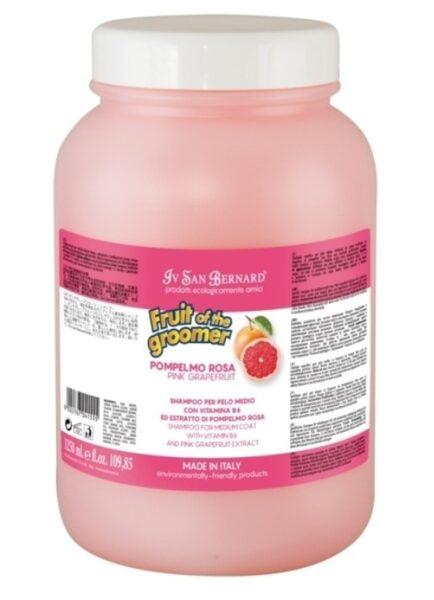 Iv San Bernard Pink Grapefruit Shampoo, 3250 ml - vidējā garuma spalvai, attīra spalvu un tonizē