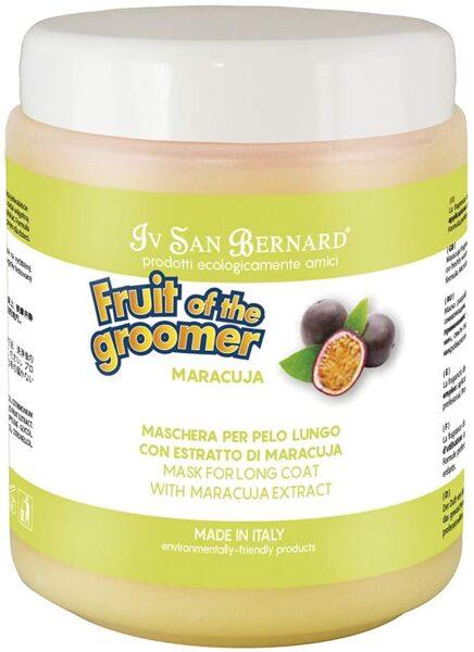 Iv San Bernard Maracuja Mask, 1000 ml - vitaminizēts kondicionieris suņiem un kaķiem ar garu spalvu