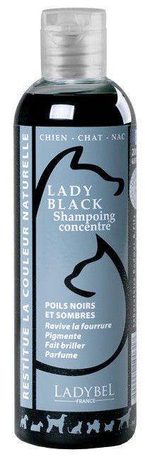 Ladybel Lady Black Shampoo, 200 ml - šampūns mājdzīvniekiem ar melnu vai tumšu spalvu