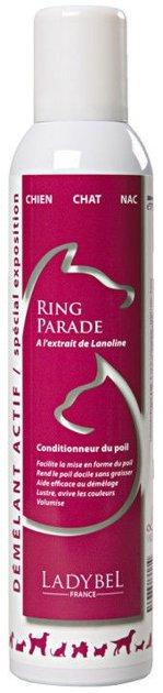 Ladybel Ring Parade, 300 ml - aerosols, kas atvieglo savēlumu izķemmēšanu, kondicionē, piešķir mirdzumu