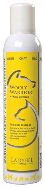 Ladybel Wooly Warrior, 300 ml - spirtu nesaturošs aerosols–kondicionieris, kas padara vilnu daudz paklausīgāku izķemmēšanai