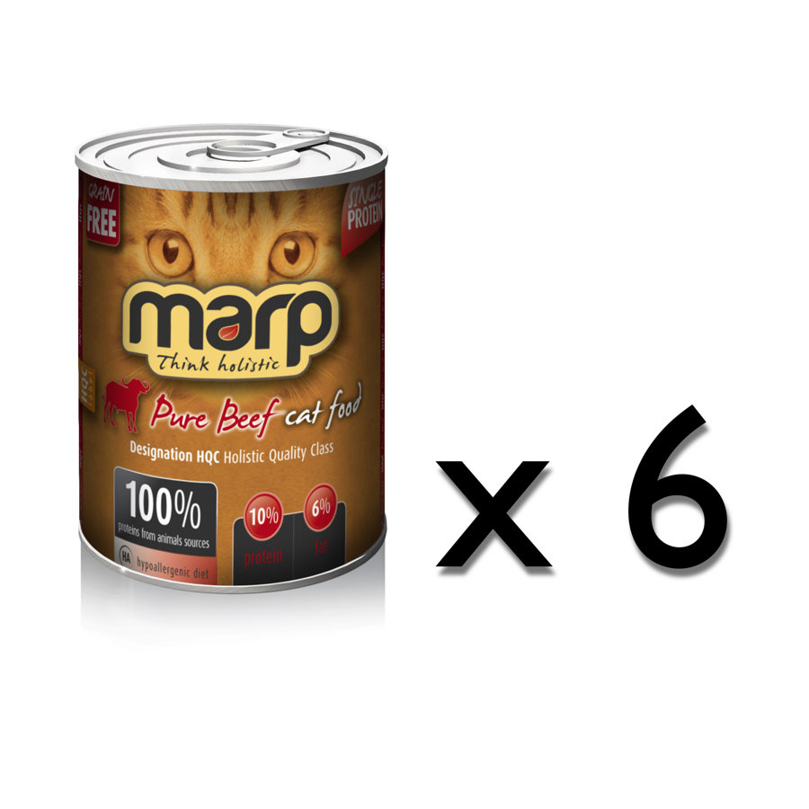 Marp Think Holistic Pure Beef Cat food - Bifelis, 6x400g