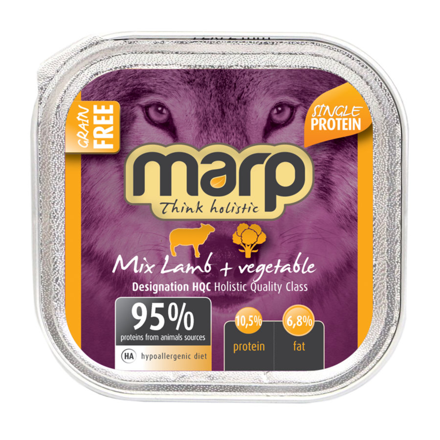 Marp Think Holistic Mix Lamb with Vegetables - ar jēru un dārzeņiem , 100g