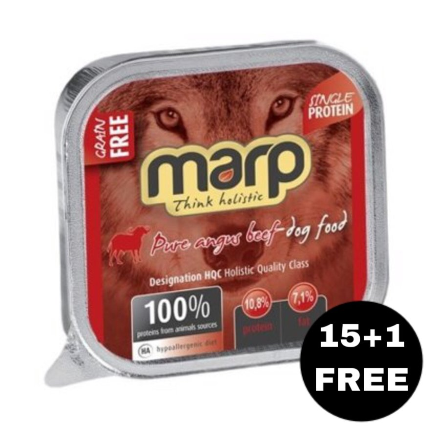 Marp Think Holistic Pure Angus Beef - Angus bifelis, 16x100g (15+1 BEZMAKSAS)
