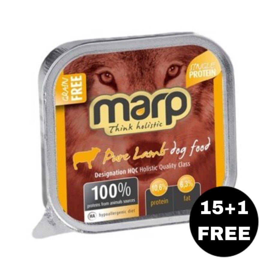 Marp Think Holistic Pure Lamb - Jērs, 16x100g (15+1 BEZMAKSAS)