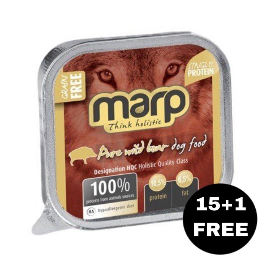 Marp Think Holistic Pure Wild Boar  - Meža cūka, 16x100g (15+1 BEZMAKSAS)