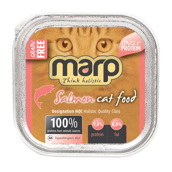 Marp Think Holistic Pure Salmon Cat Food - Lasis, 16x100g (15+1 bezmaksas)