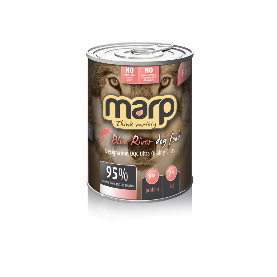 Marp Think Variety Blue River - Tītars, Bifelis, Lasis, 400g