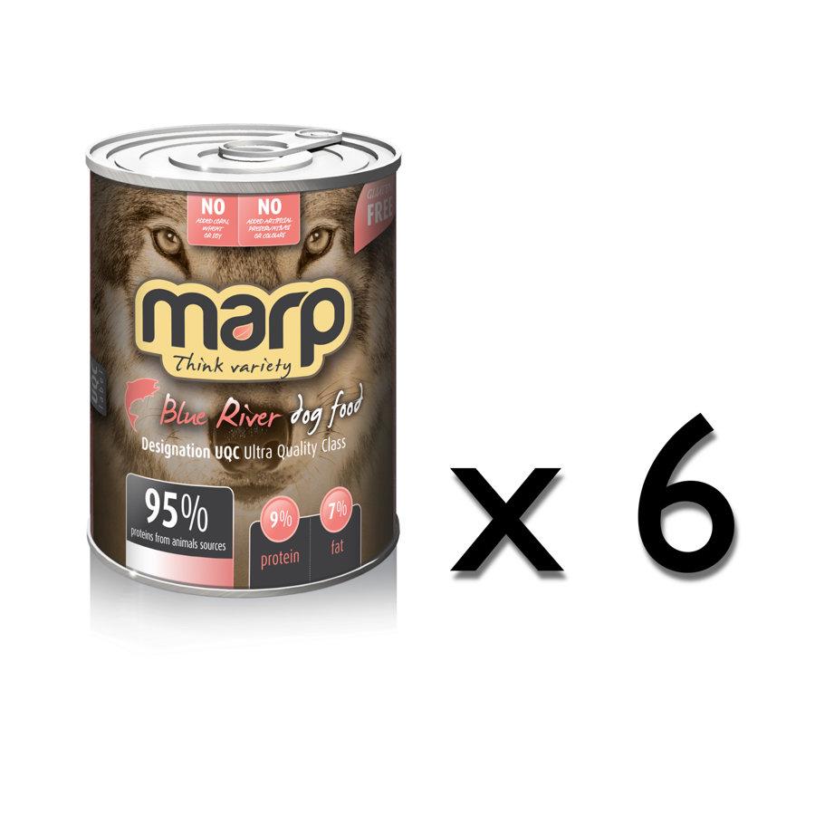 Marp Think Variety Blue River - Tītars, Bifelis, Lasis, 6x400g