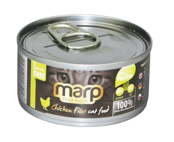 Marp Think Holistic Chicken Filet Cat Food - vistas fileja, 70g