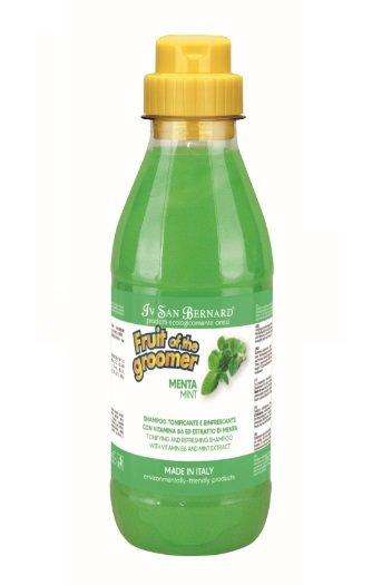 Iv San Bernard Mint Shampoo, 500 ml - tonizē ādu, piešķir spalvai spīdumu un spilgtumu