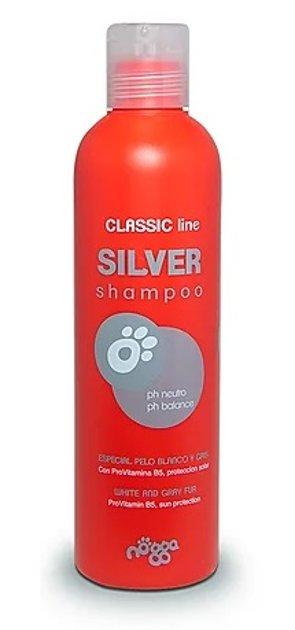 Nogga Classic Line Silver Shampoo, 250 ml - šampūns melniem, baltiem, šokolādes un sudraba spalvas toņiem