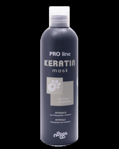 Nogga PRO Line Keratin Mask, 250 ml - maska bojātas spalvas atjaunošanai, visiem spalvas tipiem
