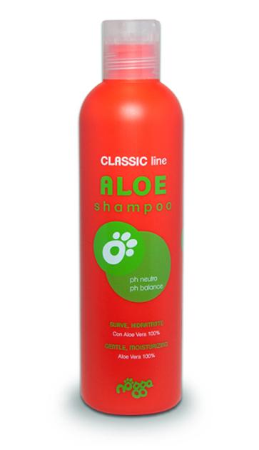 Nogga Classic Line Aloe Shampoo, 250 ml - базовый повседневный шампунь с алоэ для всех типов шерсти