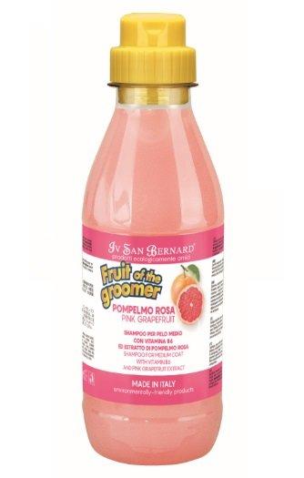 Iv San Bernard Pink Grapefruit Shampoo, 500 ml - vidējā garuma spalvai, attīra spalvu un tonizē
